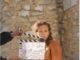 Lorie Pester lors d'une prise de scène dans Meurtre à grasse en mars 2019