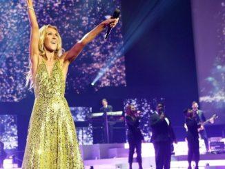Celine Dion lors d'un concert