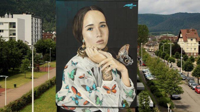 Une oeuvre de Mantra, artiste français