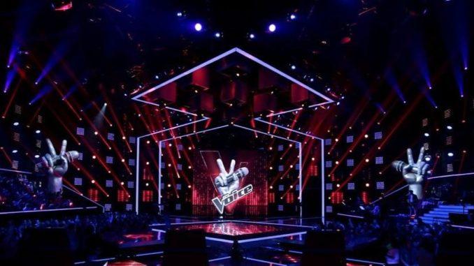 Le plateau de The Voice, sur TF1.